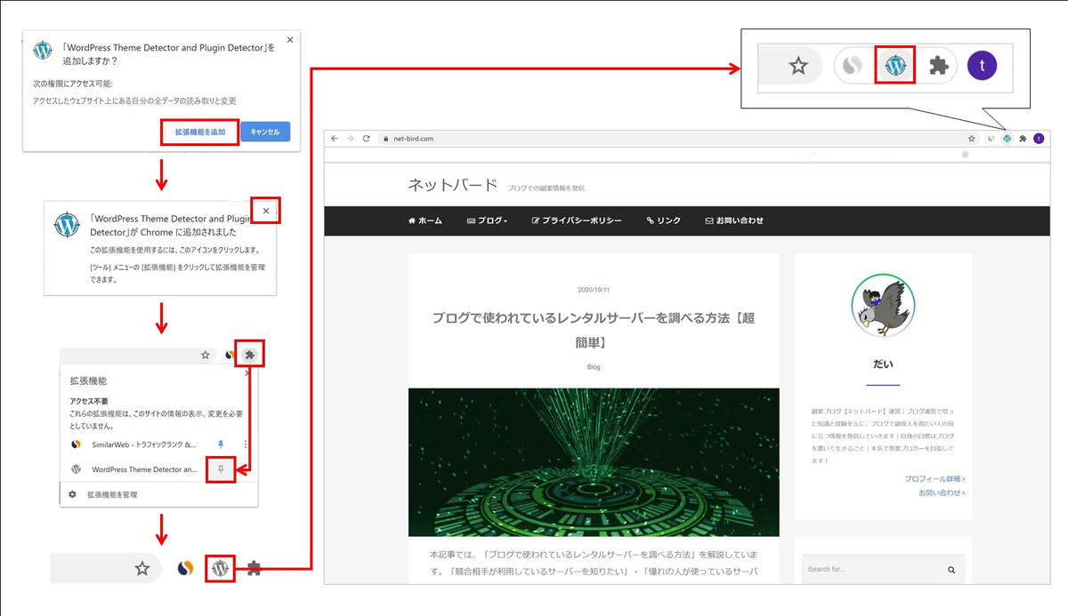 WordPress Theme Detector and Plugins Detectorのインストール手順