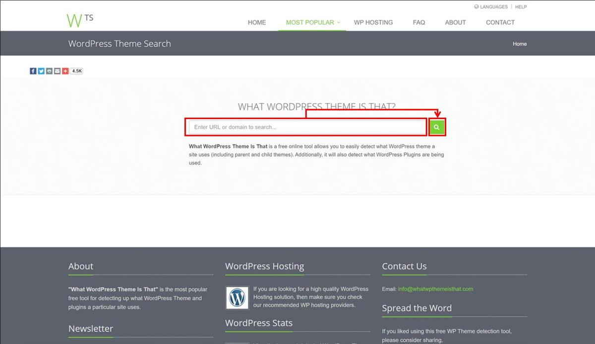 WordPress Theme Searchのトップイメージ